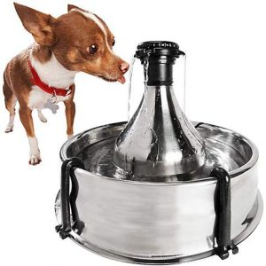 Drinkwell 360 Stainless Steel Multi-Pet Dog and Cat Water Fountain