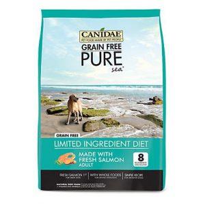 CANIDAE Grain Free PURE Sea with Fresh Salmon Dry Dog Food, 24 lbs.