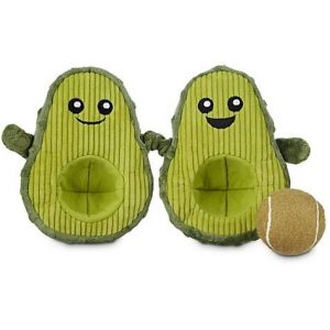Leaps & Bounds Play Plush Avocado Dog Toy, 7″