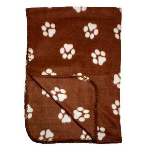 39 x 27 Inch Fleece Pet Blanket with Paw Print Pattern – Animal Supplies by bogo Brands