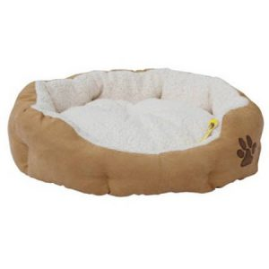 ALEKO PB02L Large 27X25X6″ Soft Plush Beige Pet Cushion Crate Bed For Dogs and Cats with Removable Insert Pillow
