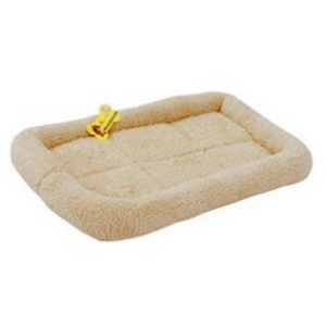 ALEKO PCM01 Small Soft Plush Beige Comfy Pet Bed Cushion Mat for Dogs and Cats