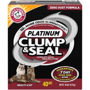 ARM & HAMMER Clump & Seal Platinum Litter, Multi-Cat, 40 lb