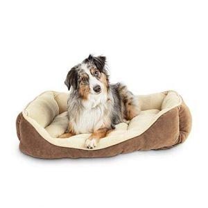 Animaze Brown Bolster Dog Bed, 32″ L X 24″ W X 6″ H