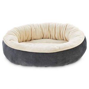 Animaze Gray Circle Bolster Dog Bed, 20″ D X 6″ H
