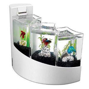 Aqueon 2 Gallon Betta Falls Aquarium Kit, White