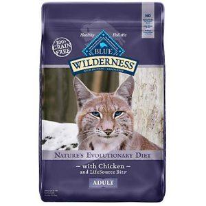 Blue Buffalo Blue Wilderness Adult Chicken Recipe Dry Cat Food, 12 lbs.