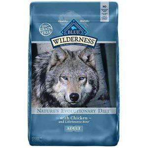 Blue Buffalo Blue Wilderness Adult Chicken Recipe Dry Dog Food, 24 lbs.