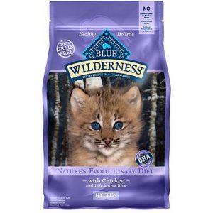 Blue Buffalo Blue Wilderness Kitten Chicken Recipe Dry Cat Food, 5 lbs
