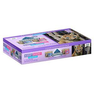 Blue Buffalo Blue Wilderness Kitten Variety Pack Cat Food, 3 oz., Case of 6