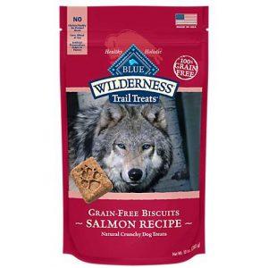 Blue Buffalo Blue Wilderness Trail Treats Salmon Biscuits Dog Treats, 10 oz.