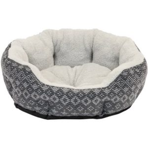 Cozy Winter Small Cuddler Dog Bed Cat Bed, 19″, Gray