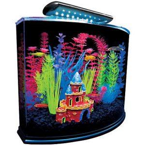 GloFish 5 Gallon Crescent Aquarium Kit, 16.5″ L X 11.25″ W X 13.2″ H