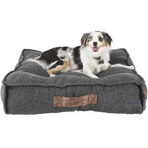 Harmony Grey Lounger Memory Foam Dog Bed, 28″ L x 28″ W