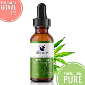 Hemp Oil for Dogs and Cats Ultra Pure, Pharmacy Grade   All-Natural Hip and Joint Pain Relief
