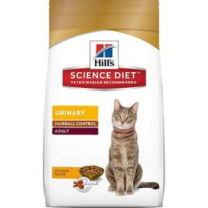 Hill's Science Diet Urinary Hairball Control Adult Chicken Dry Cat Food, 15.5 lbs.