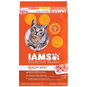 Iams ProActive Health Healthy Original With Chicken Adult Dry Cat Food, 16 lbs.