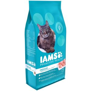 Iams Proactive Health Indoor Weight And Hairball Care Dry Cat Food, (1) 7 Pound Bag, Real Chicken In Every Bite (Packaging May Vary)