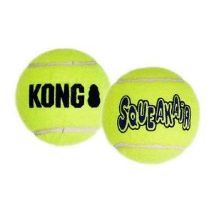 KONG SqueakAir Tennis Balls Pack of 3, Small