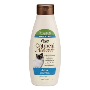 Oster Oatmeal Naturals 4-in-1 Cat Shampoo, Rich Vanilla, 18 Fluid Ounces