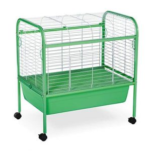Prevue Pet Products Grass Green & White Small Animal Cage with Stand, 29″ L X 19″ W X 31″ H