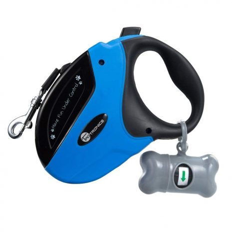 TaoTronics Retractable Dog Leash, 16 ft Dog Walking Leash for Medium Large Dogs up to 111lbs, Tangle Free, One Button Break & Lock, Dog Waste Dispenser and Bags Included