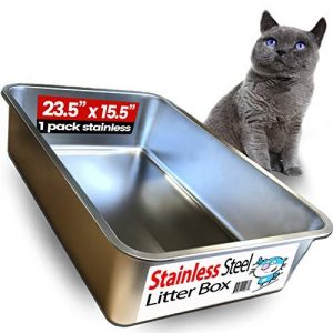 iPrimio Ultimate Stainless Steel Cat XL Litter Box – Never Absorbs Odor, Stains, or Rusts